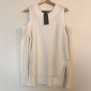 French connection cold shoulder knit sweater